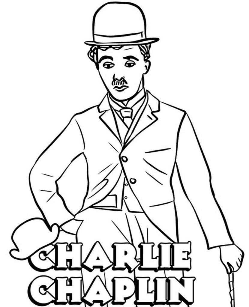 Image Of Sad Charlie Chaplin With A Hat And A Cane
