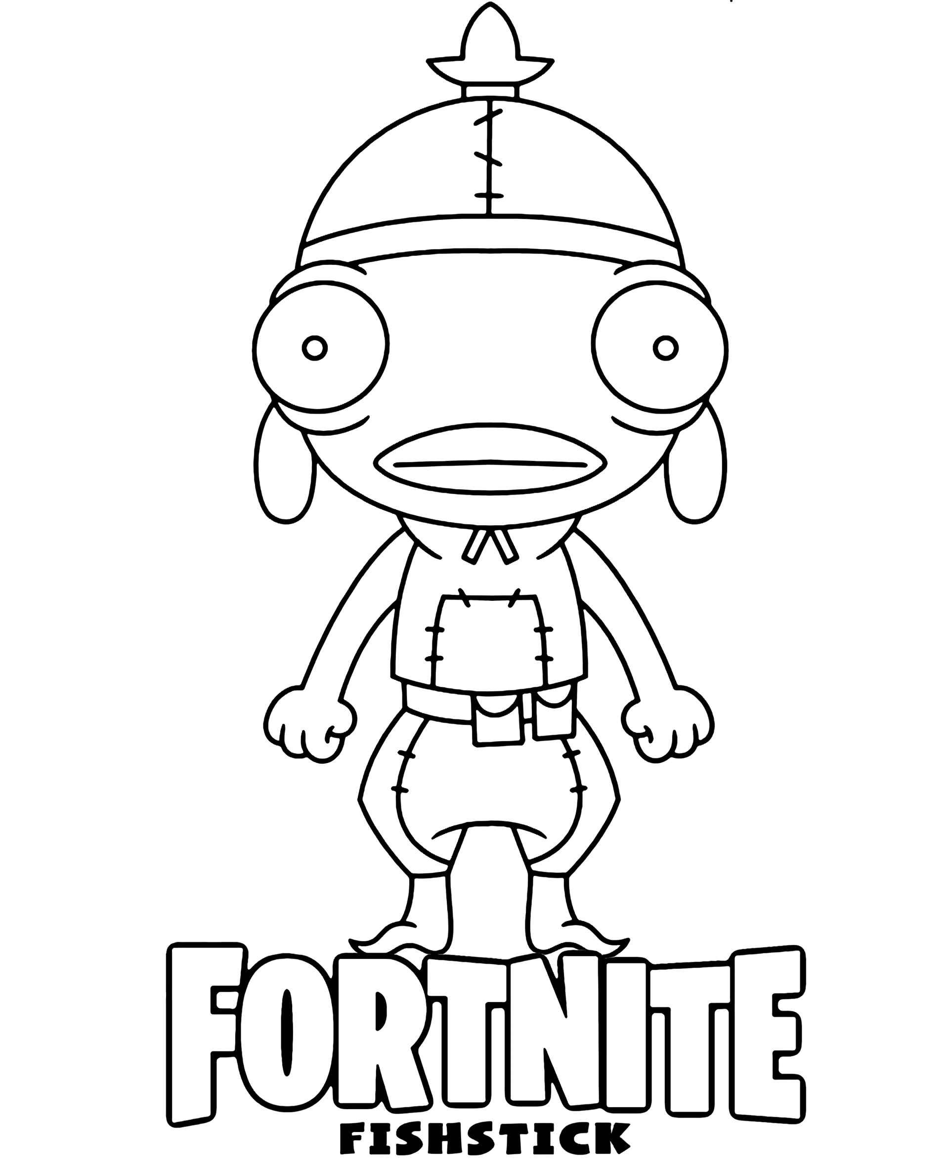 Image Of The Fishstick Chibi Skin From The Game Fortnite
