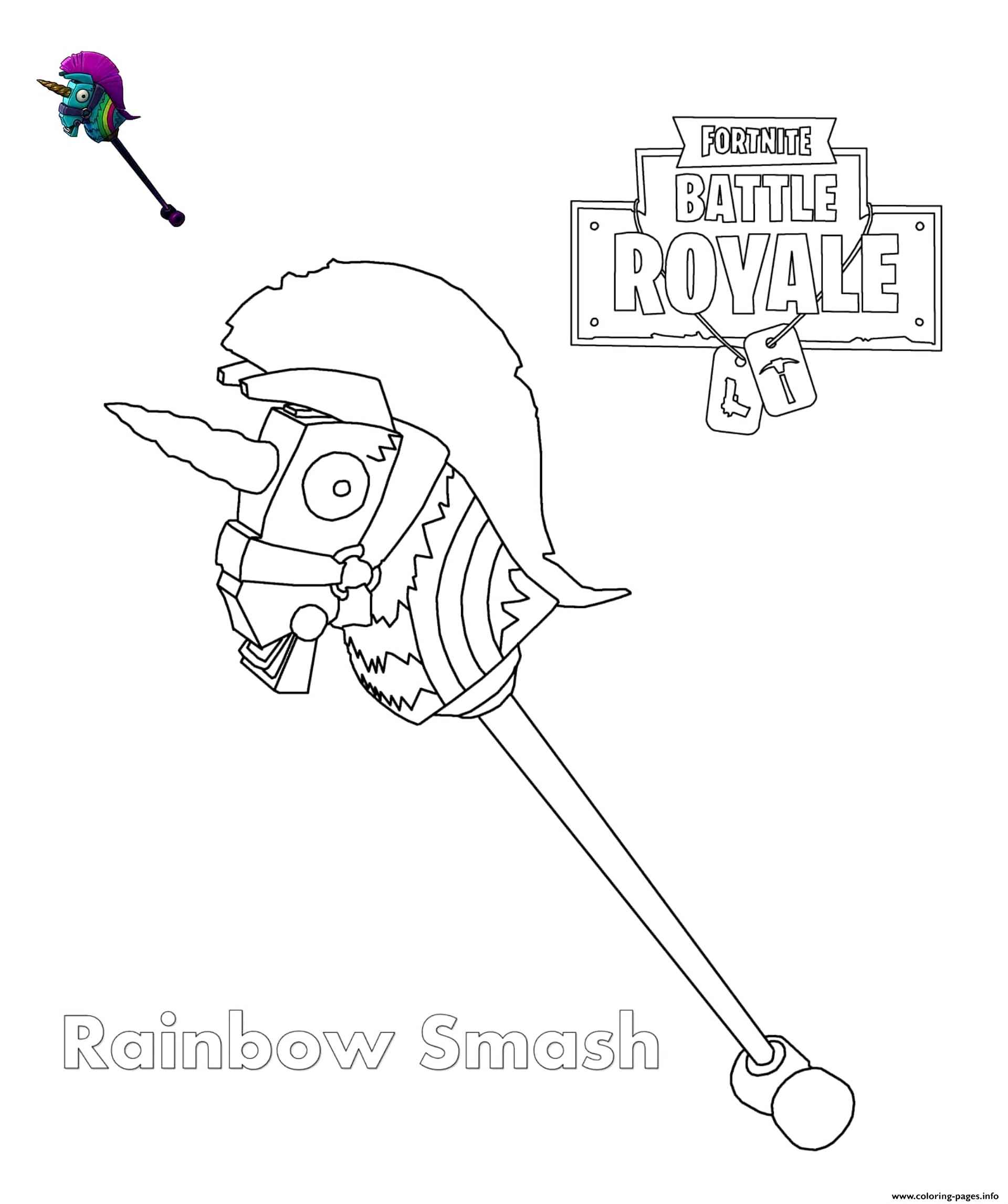 Image Of The Rainbow Smash From The Game Fortnite