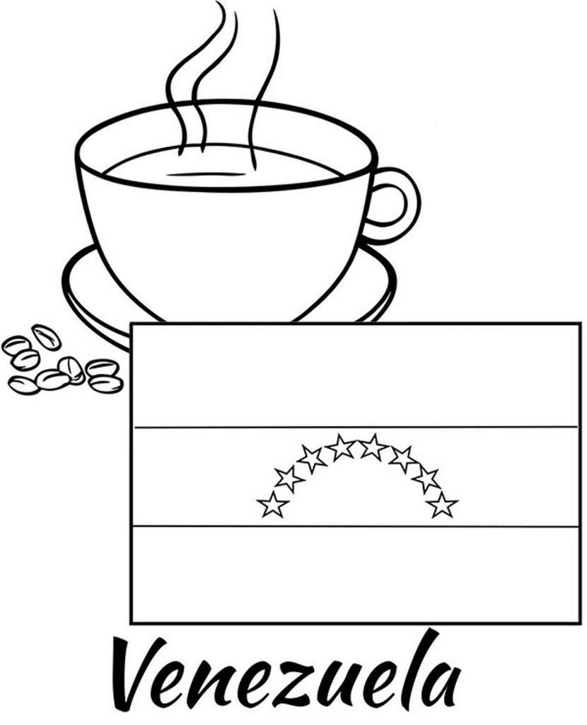 Image Of Venetian Flag And A Cup Of Coffee