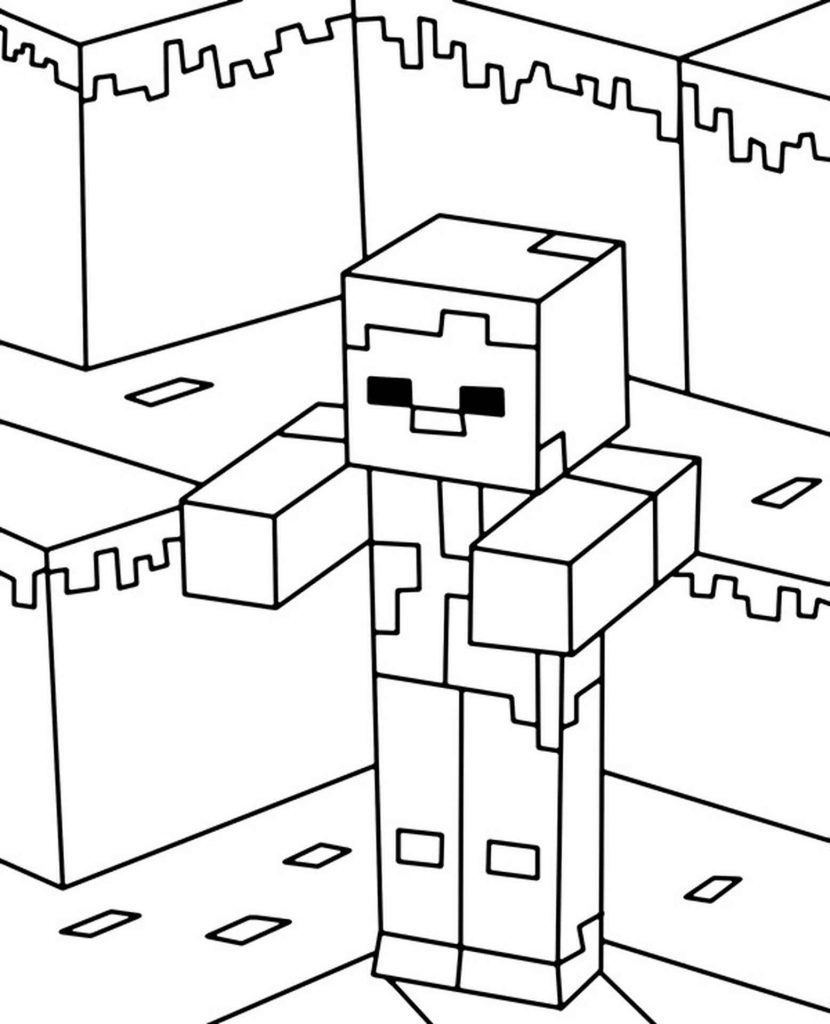 Image Of Zombie Walking From Minecraft