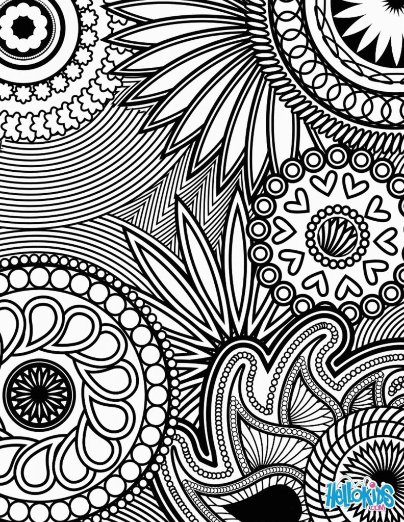 Intricate Patterns Coloring Sheet For Adults