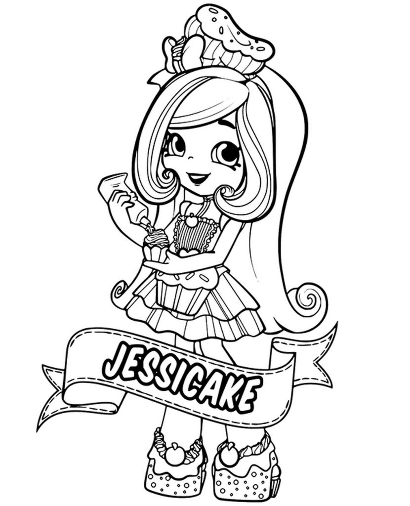 Jessicake Shopkins Coloring Page