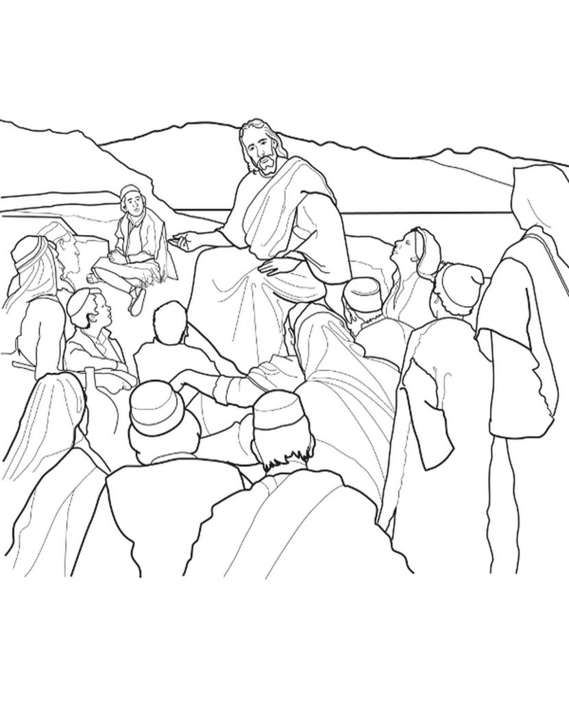 Jesus With Christians Coloring Book