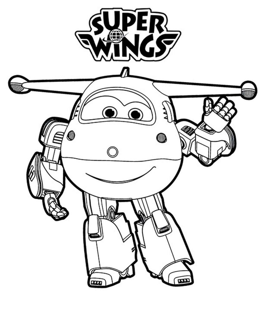 Jett Transformed Coloring Page