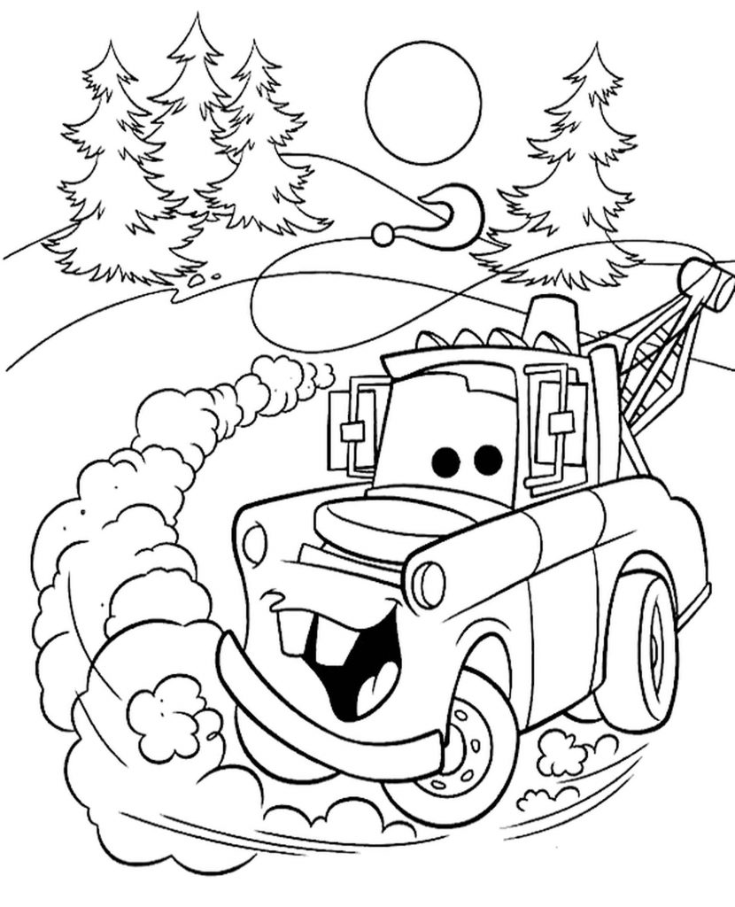 Joyful Mater Goes Fast Coloring Page