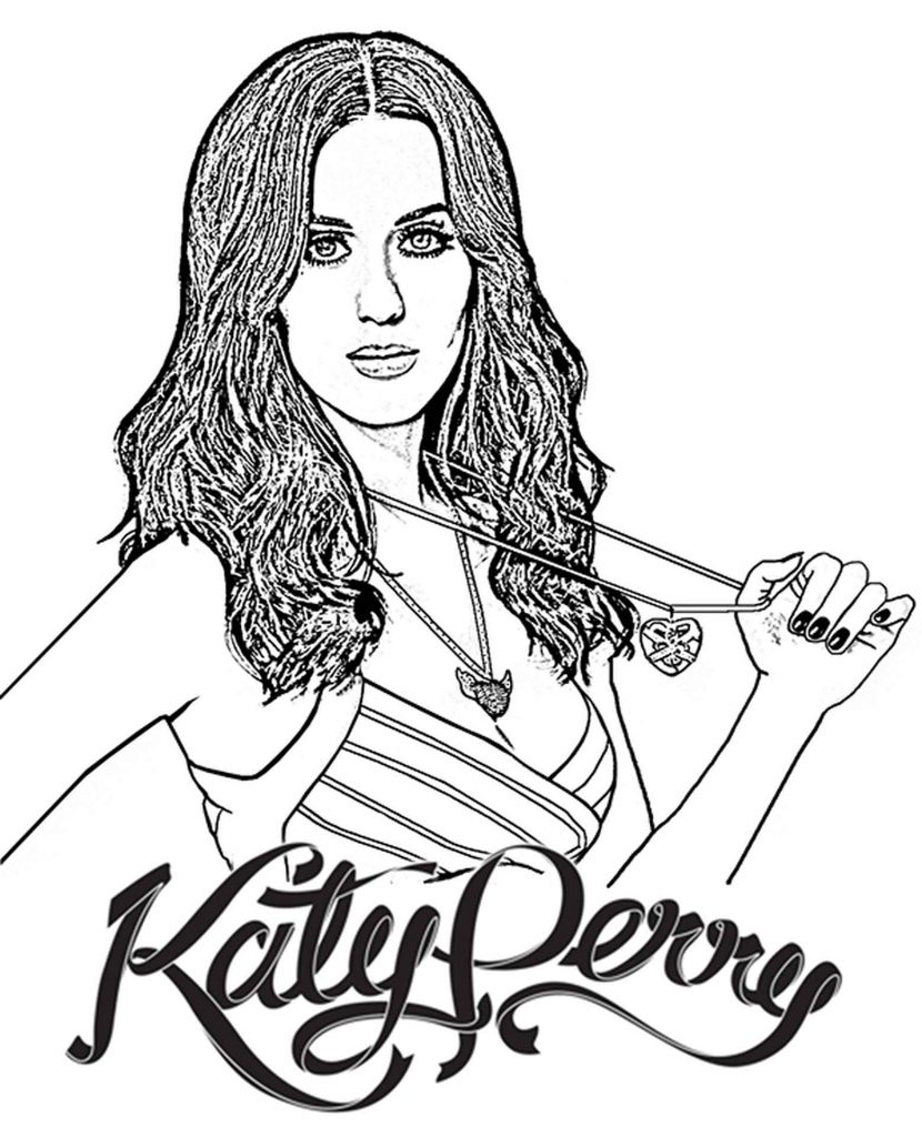 Kate Perry Coloring Page