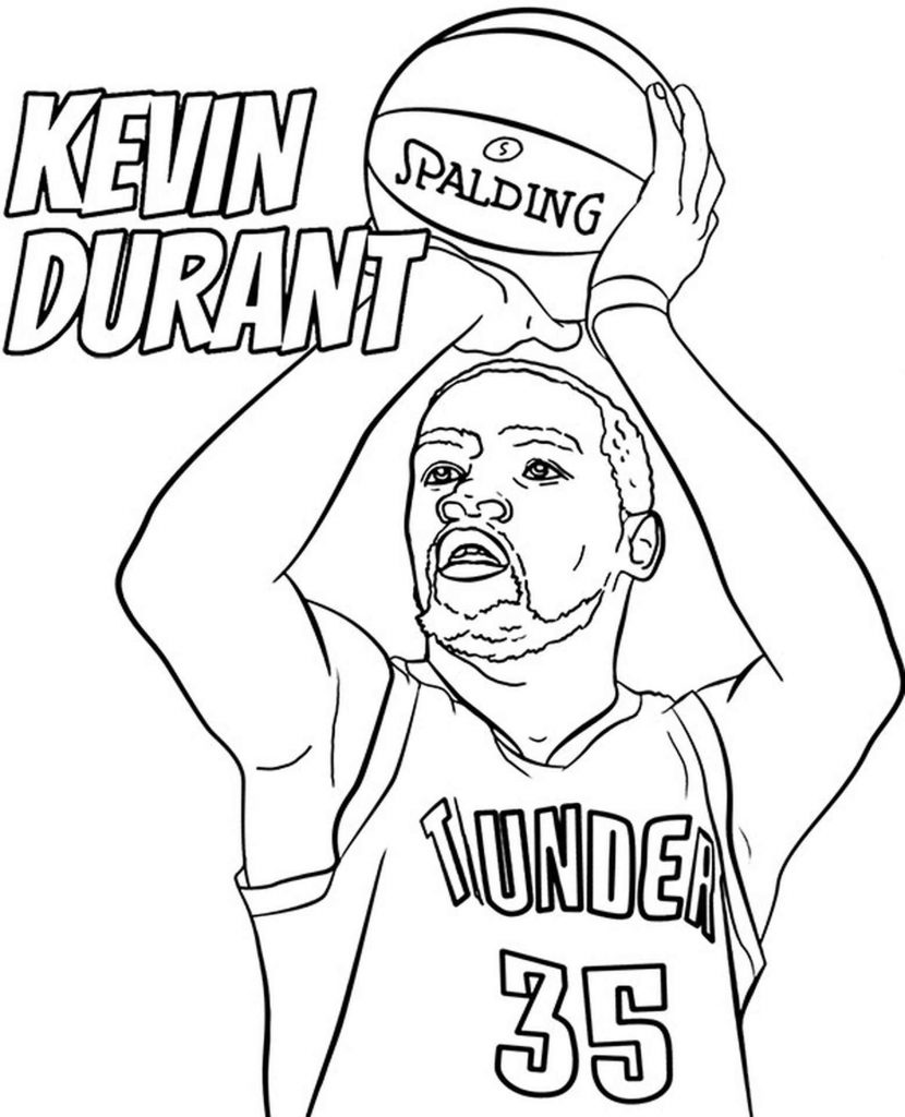 Kevin Durant Basketballer Coloring Page