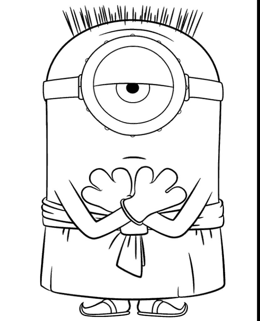 Kevin In Hawaiian Clothes Coloring Page