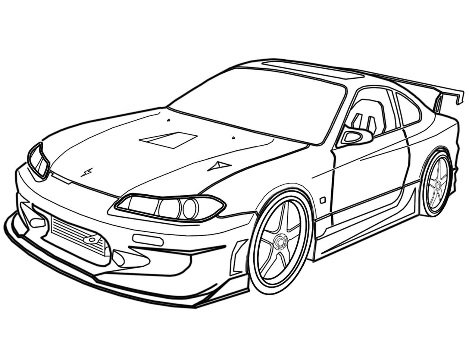 Legendary Supra Coloring Page