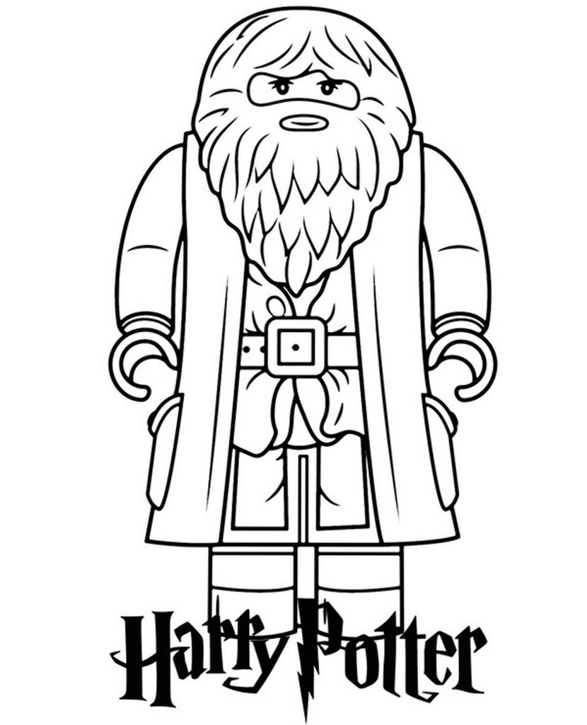 Lego Rubeus Hagrid Of Harry Potter Coloring Page