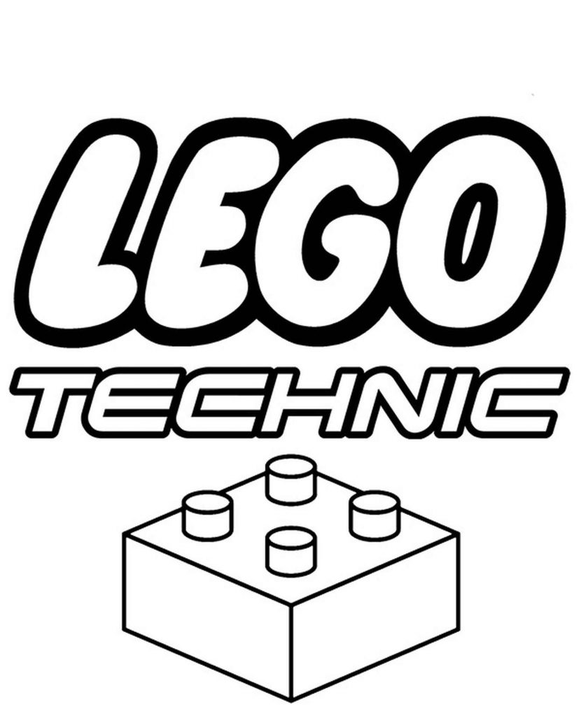 Lego Technic Logo Coloring Page