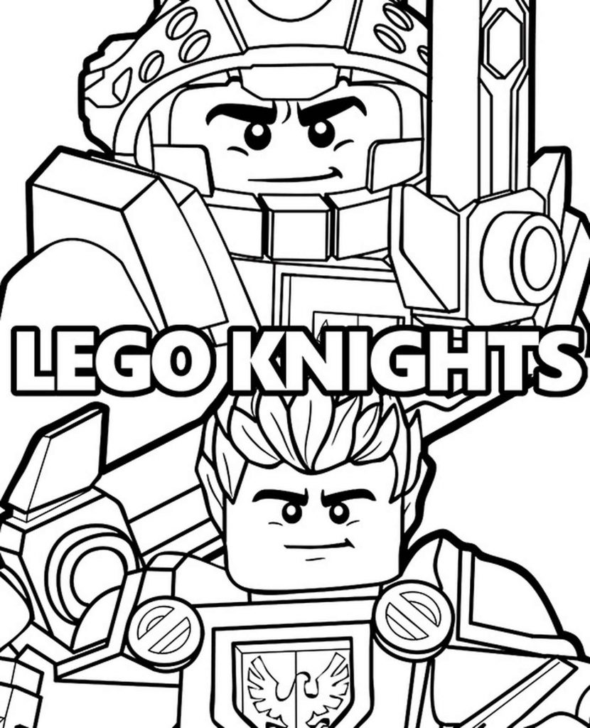 Lego Two Knights Coloring Page
