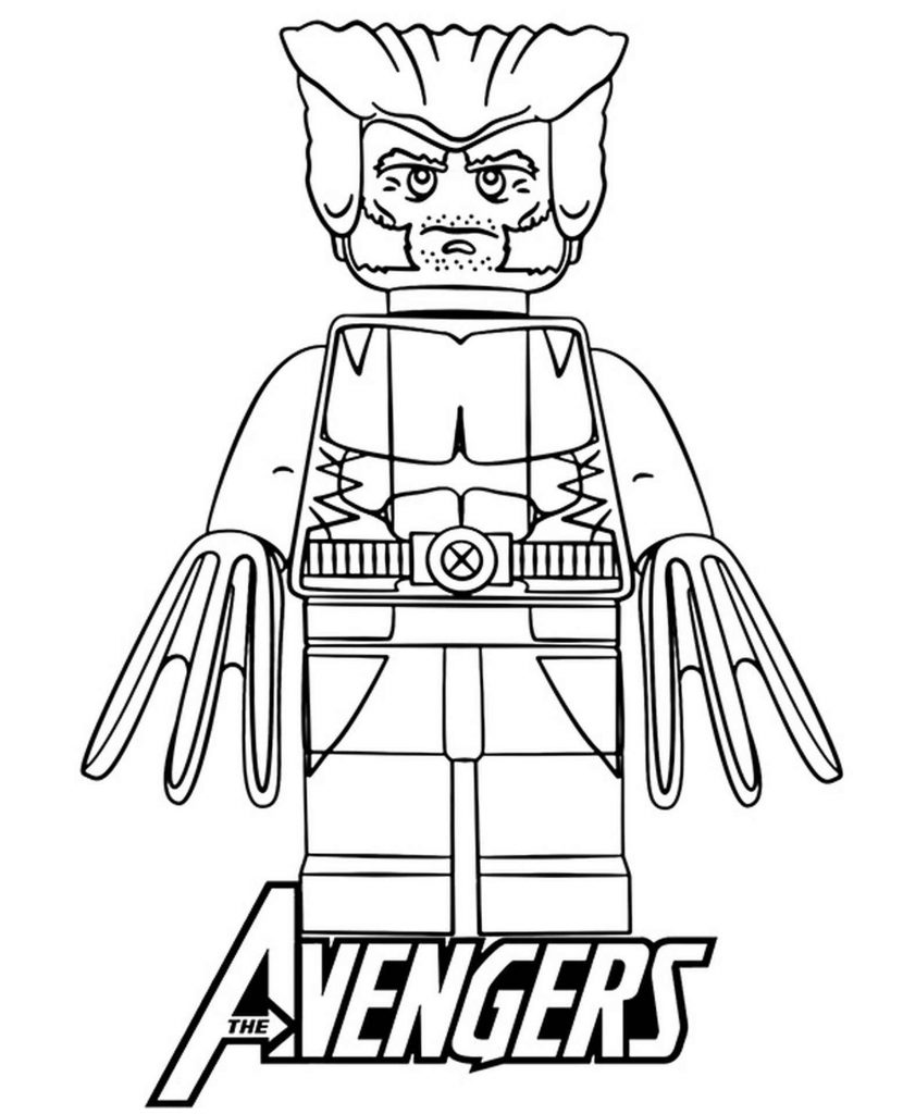 Lego Wolverine From Marvel Coloring Page