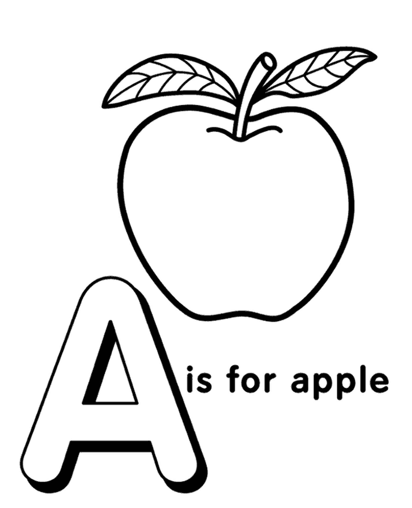 Letter A Coloring Page For Kids