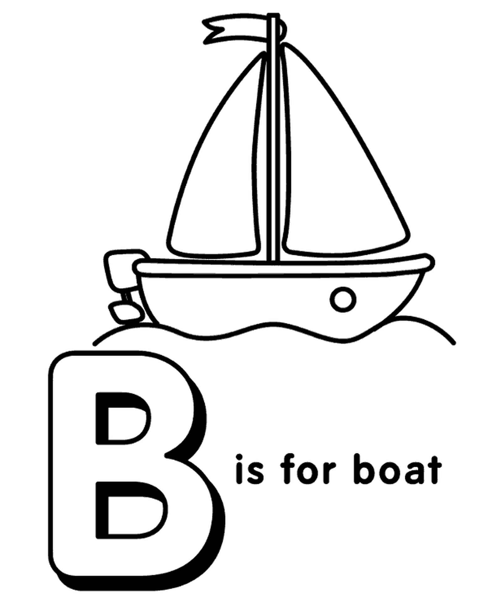 Letter B Coloring Page For Kids