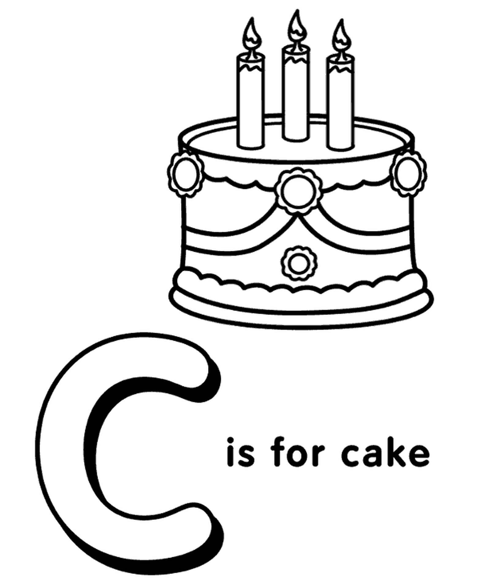 Letter C Coloring Page For Kids