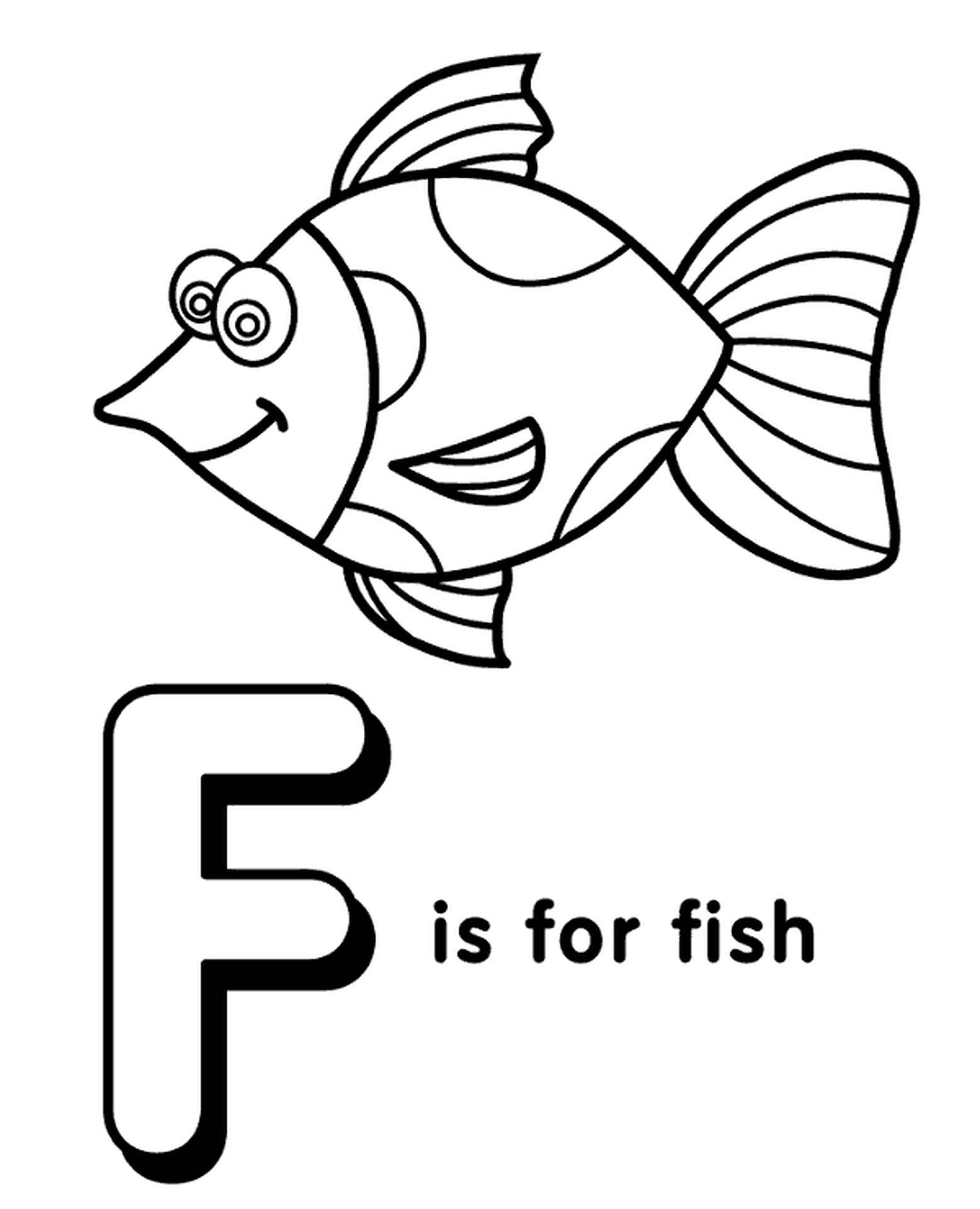 Letter F Coloring Page For Kids