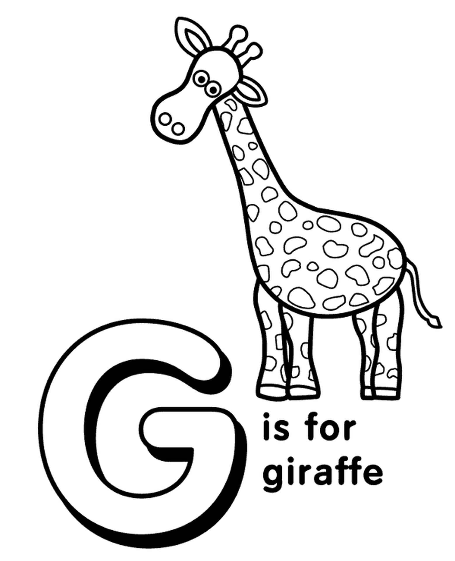 Letter G Coloring Page For Kids