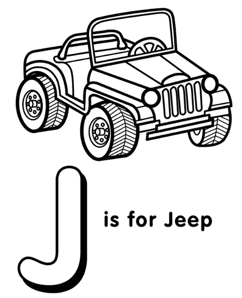 Letter J Coloring Page For Kids