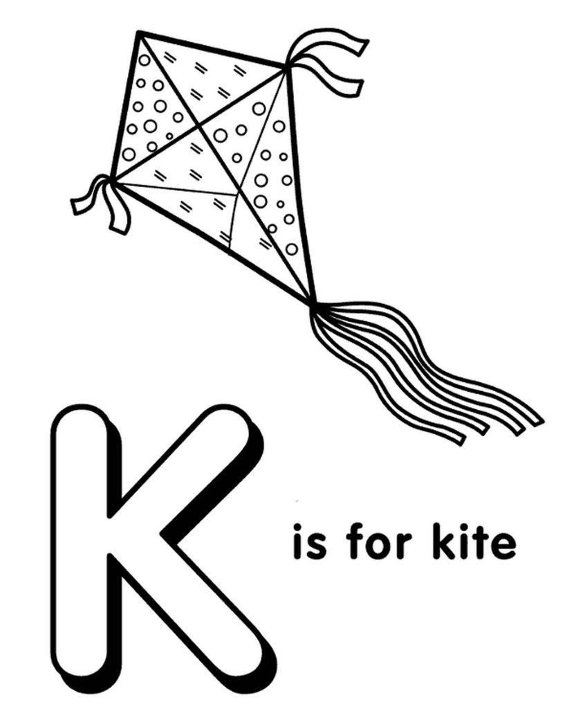 Letter K Coloring Page For Kids