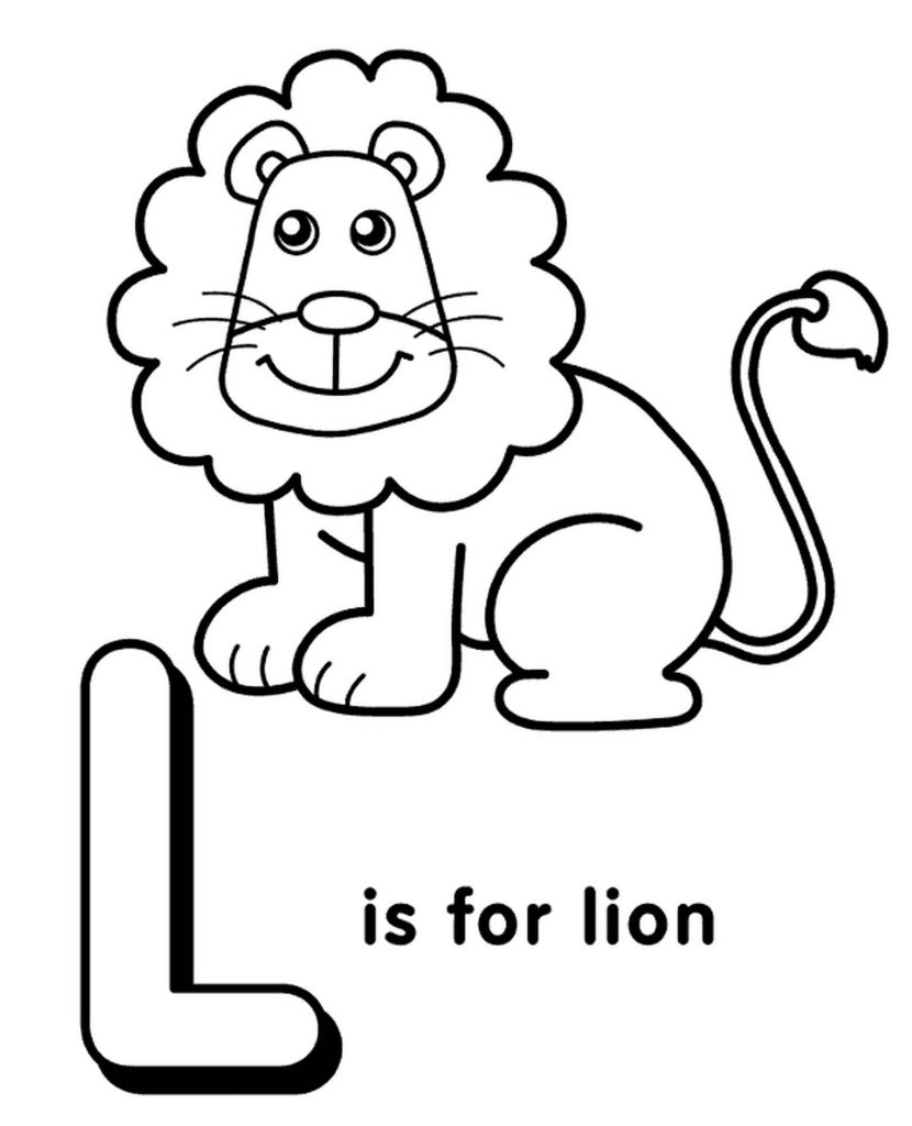 Letter L Coloring Page For Kids