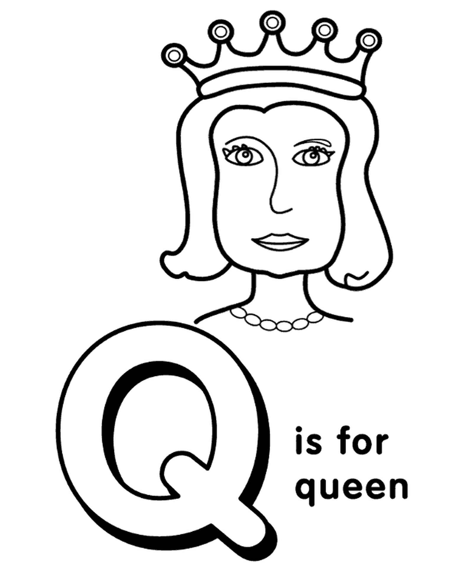 Letter Q Coloring Page For Kids