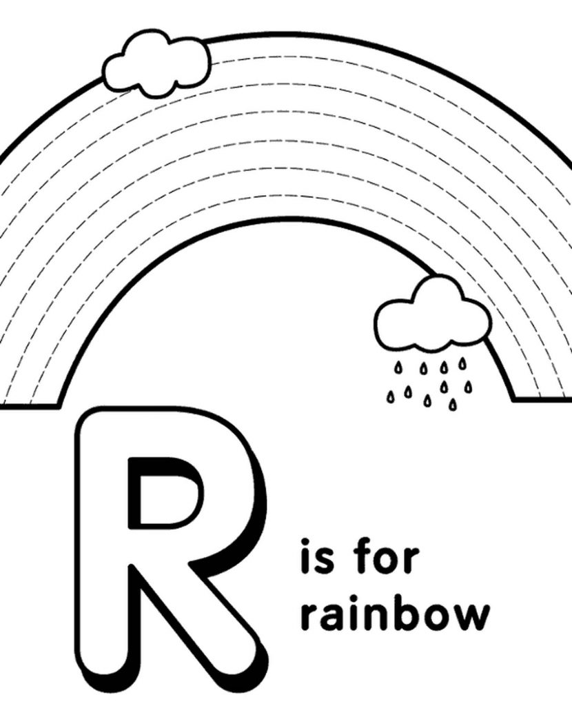 Letter R Coloring Page For Kids