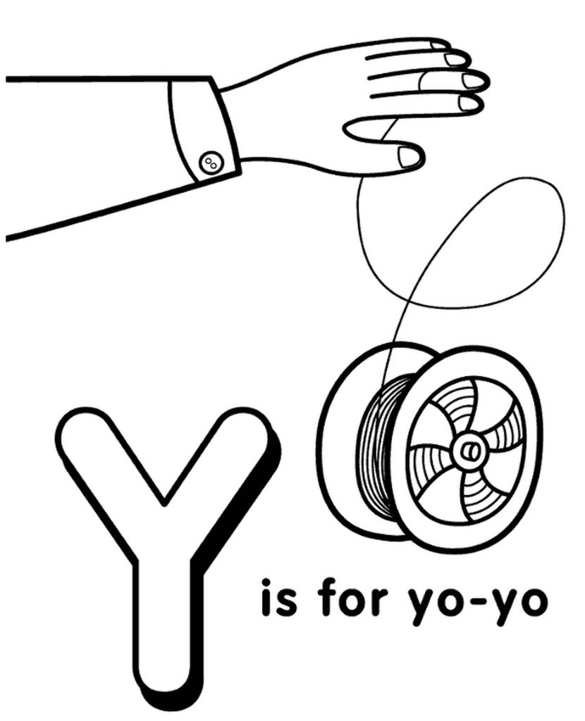 Letter Y Coloring Page For Kids