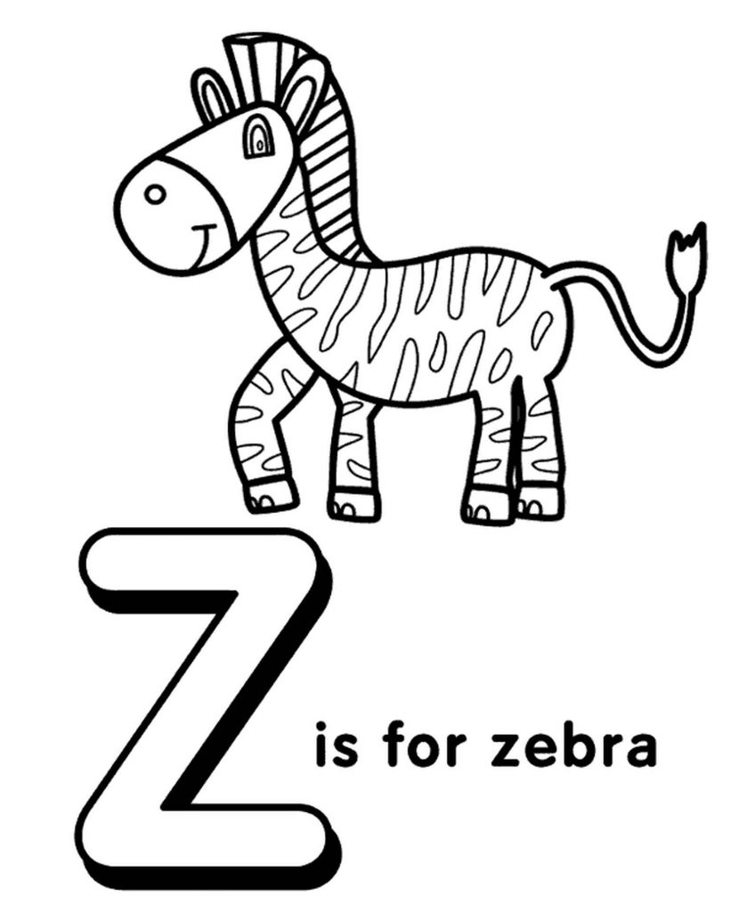 Letter Z Coloring Page For Kids