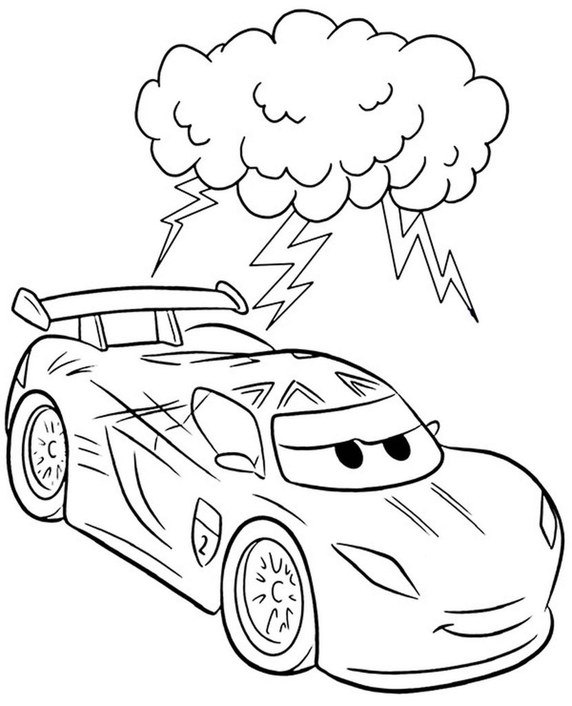 Lightning Mcqueen Is Angry Coloring Page