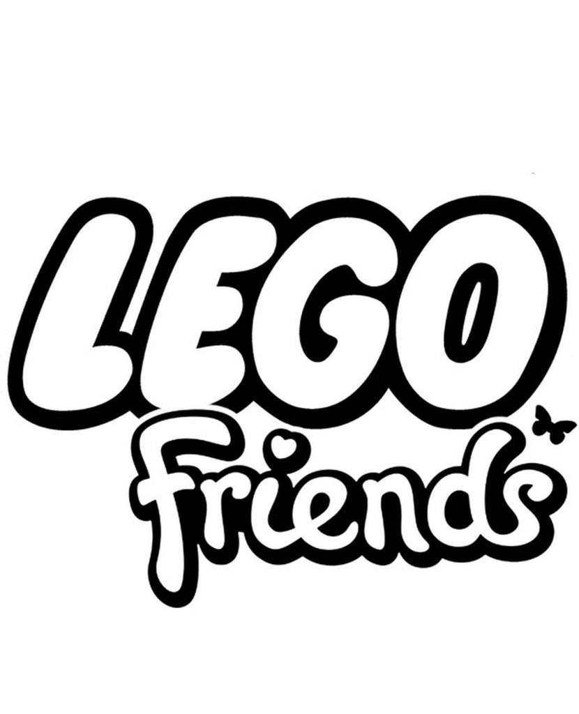 Logo Lego Friends Coloring Page