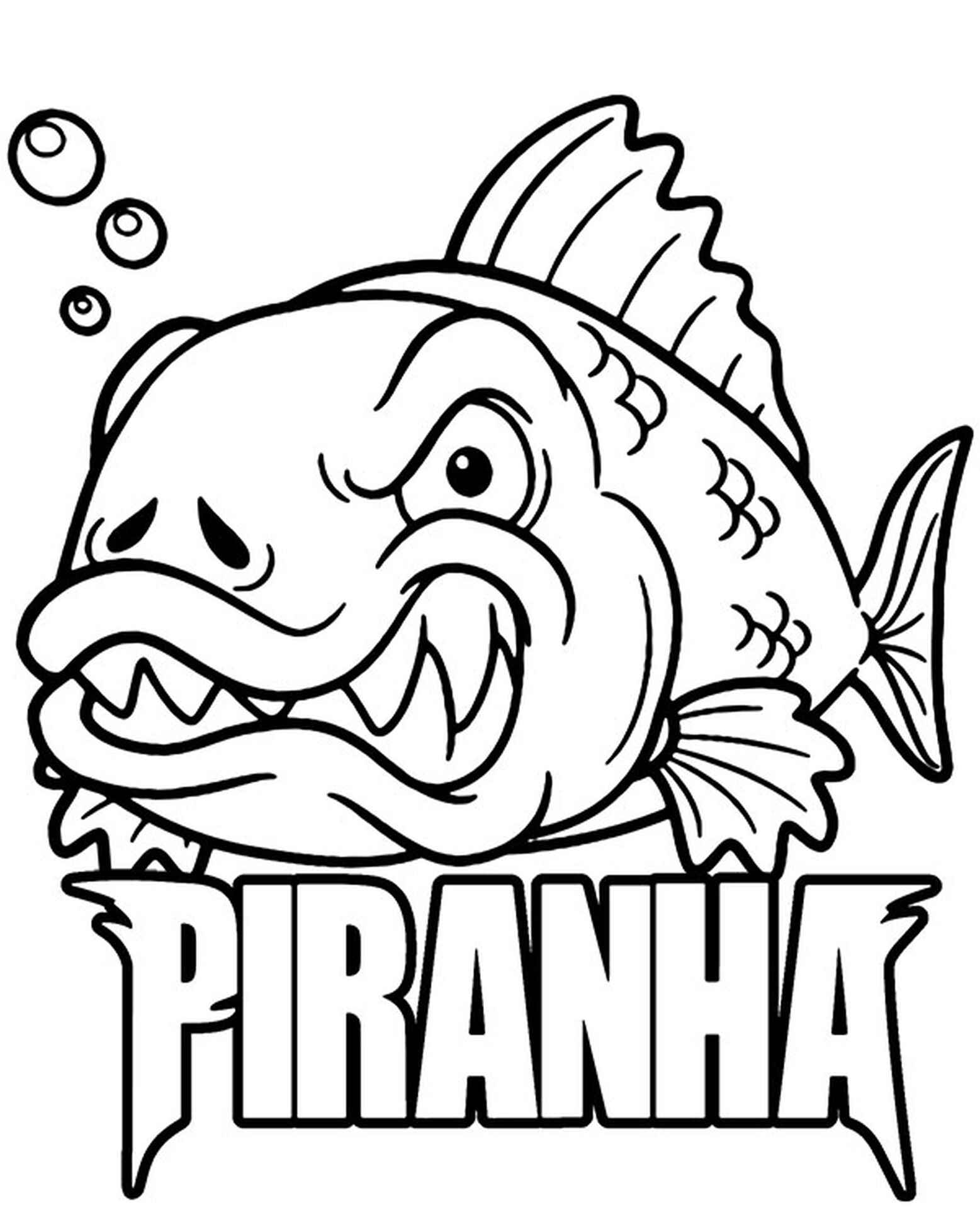 Logo Piranha Coloring Pages