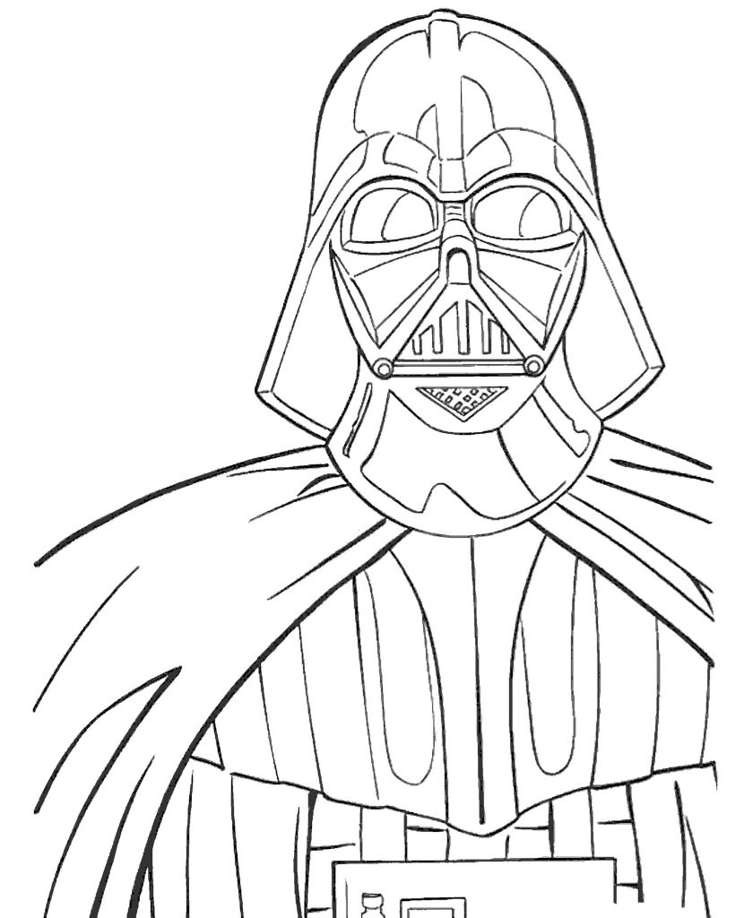 Lord Darth Vader From Star Wars Coloring Page