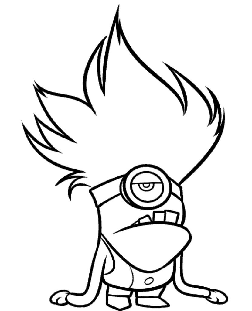 Mad And Bad Minion Coloring Page