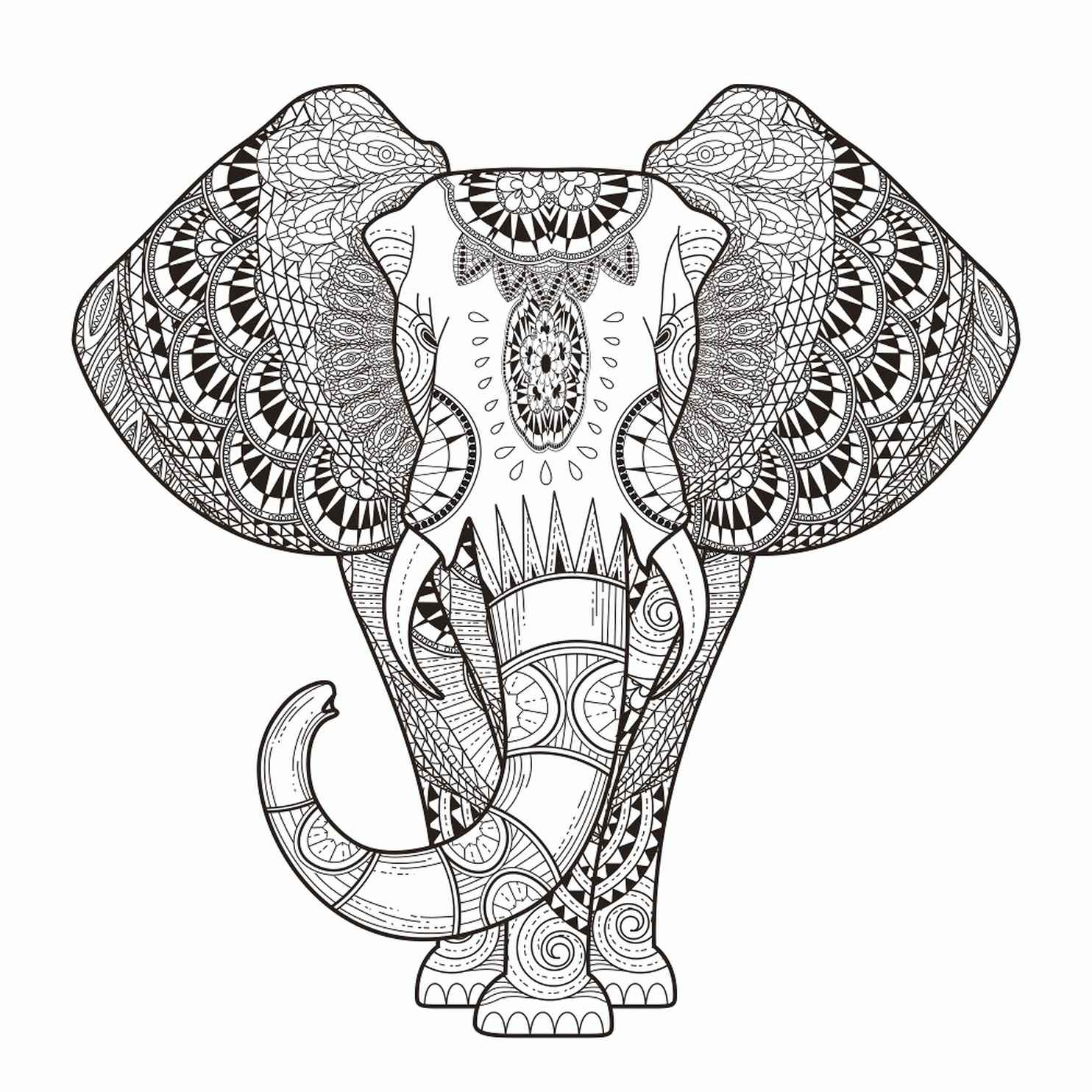 Magic Elephant Coloring Page