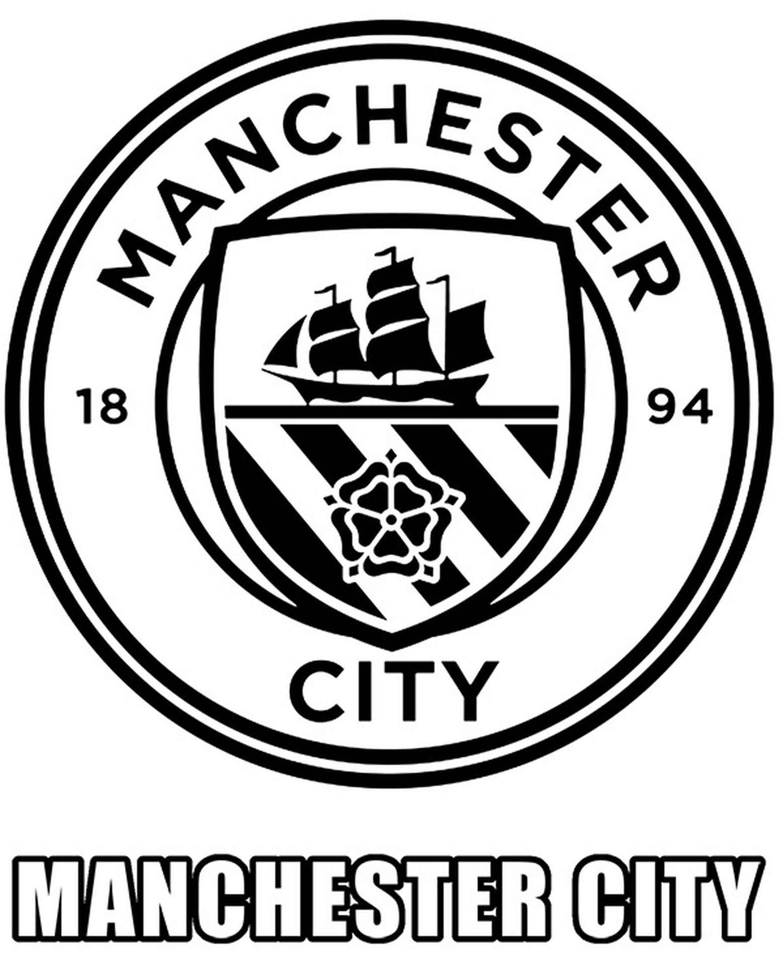 Manchester City Logo Coloring Page
