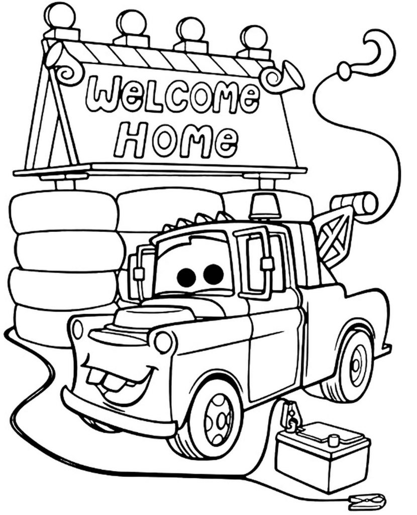 Mater With His Hook At Home Coloring Page