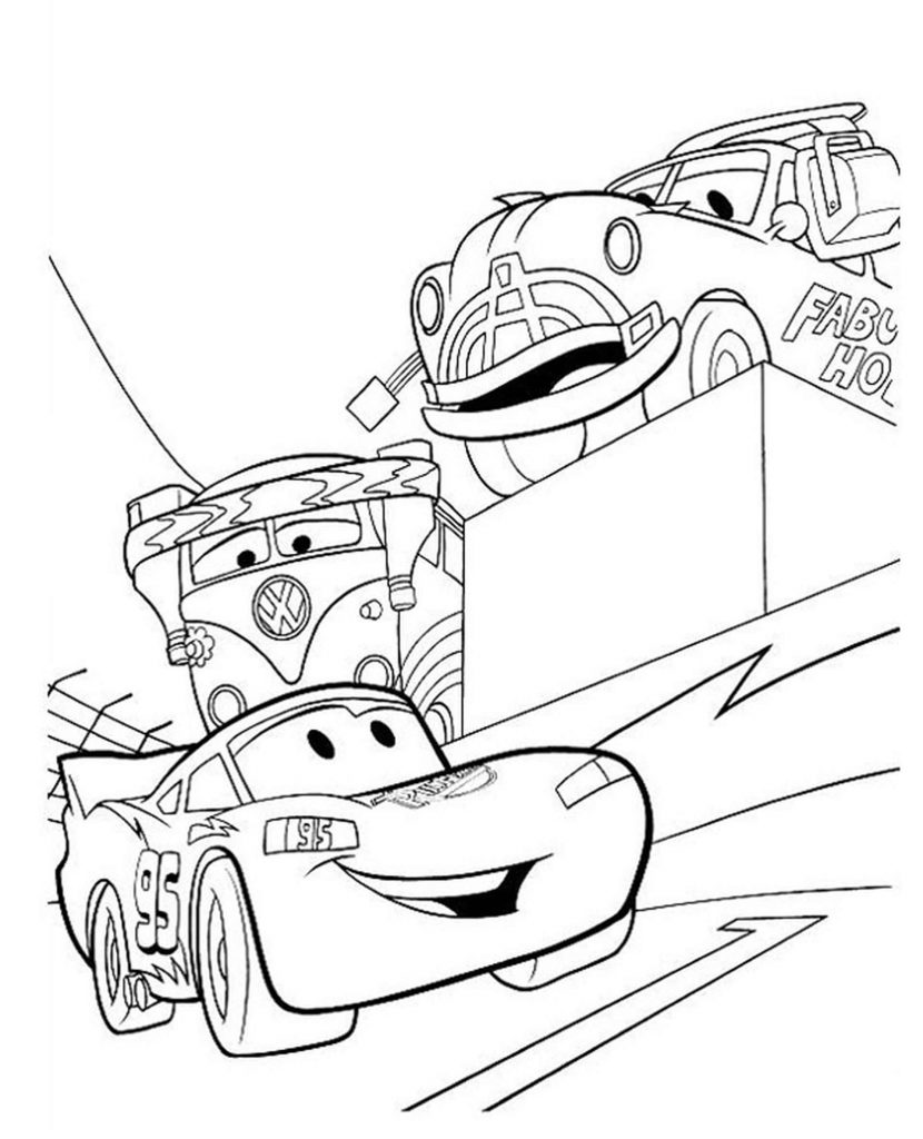 Mcqueen At The Race Finals Coloring Page