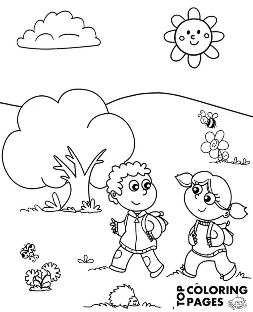 Meadow Coloring Page