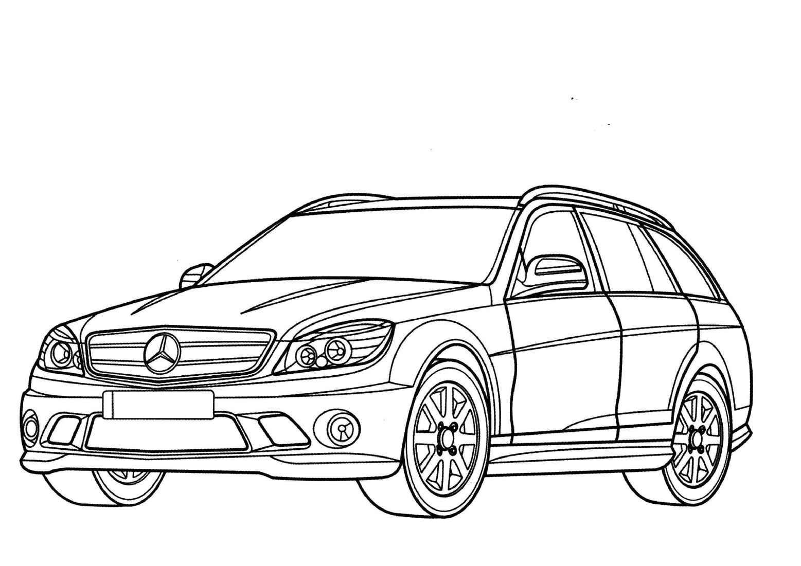 Mercedes Benz C Class Wagon Coloring Page