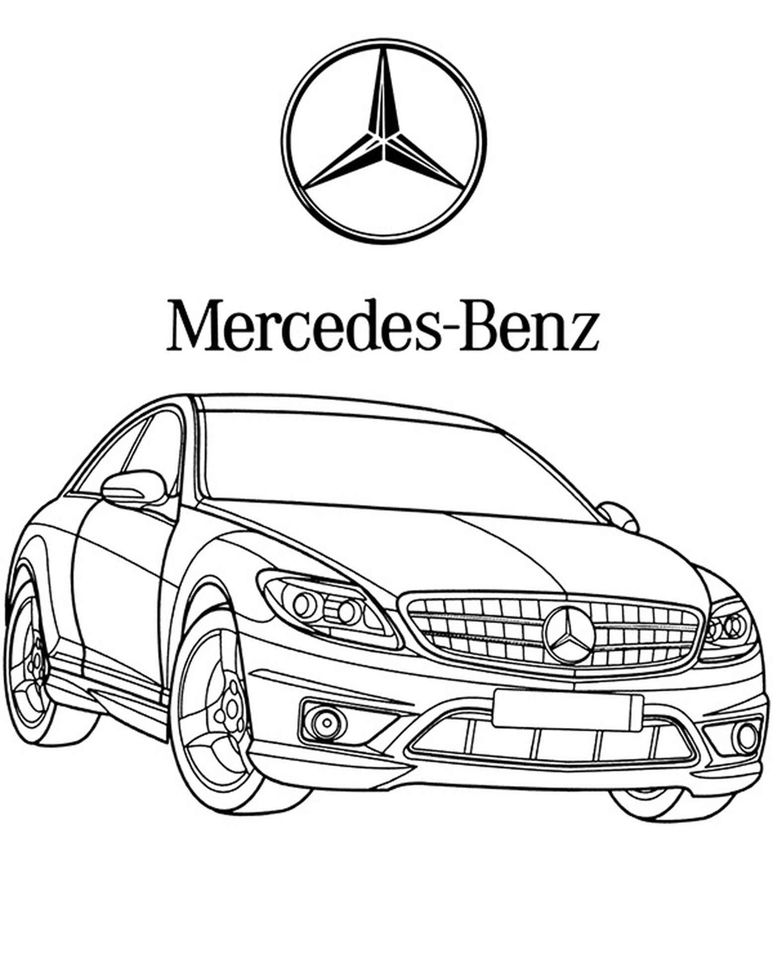 Mercedes Car Coloring Page