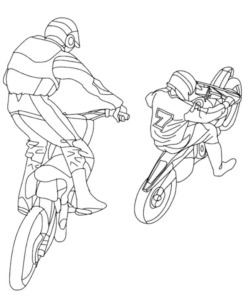 Motor Freestyle Coloring Page