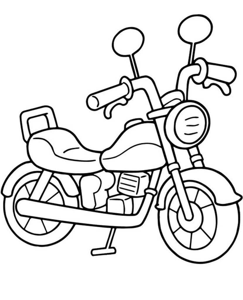 Motorbike For Teens Coloring Page