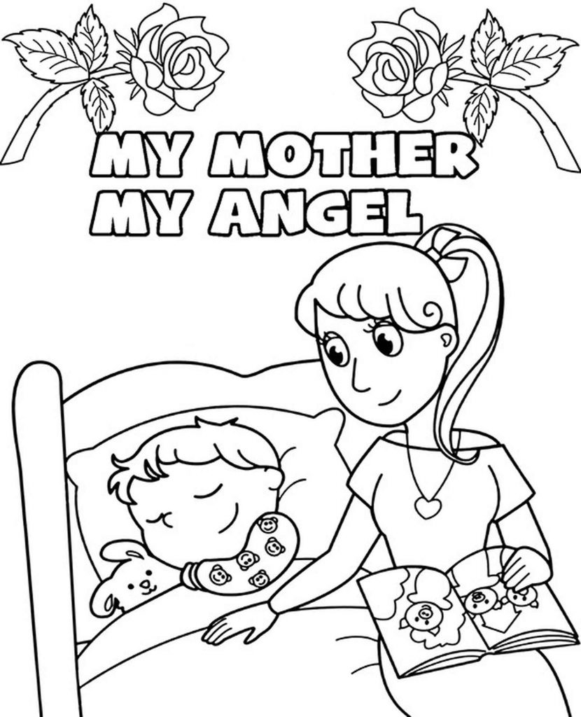 My Mother Is My Angel Coloring Page