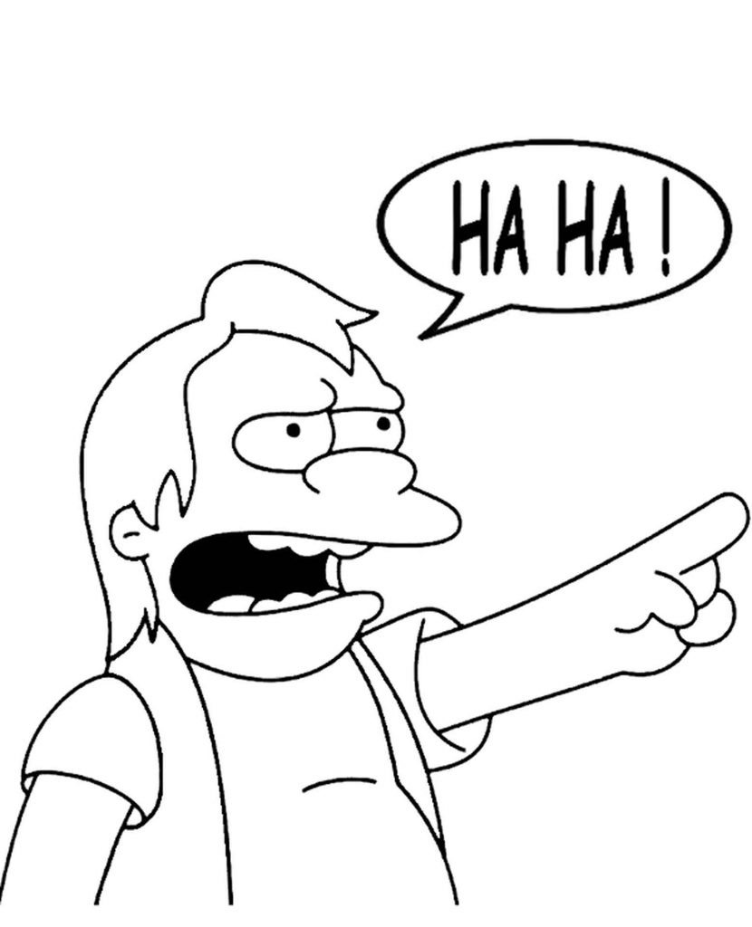 Nelson Muntz From Simpsons Taunts Coloring Page