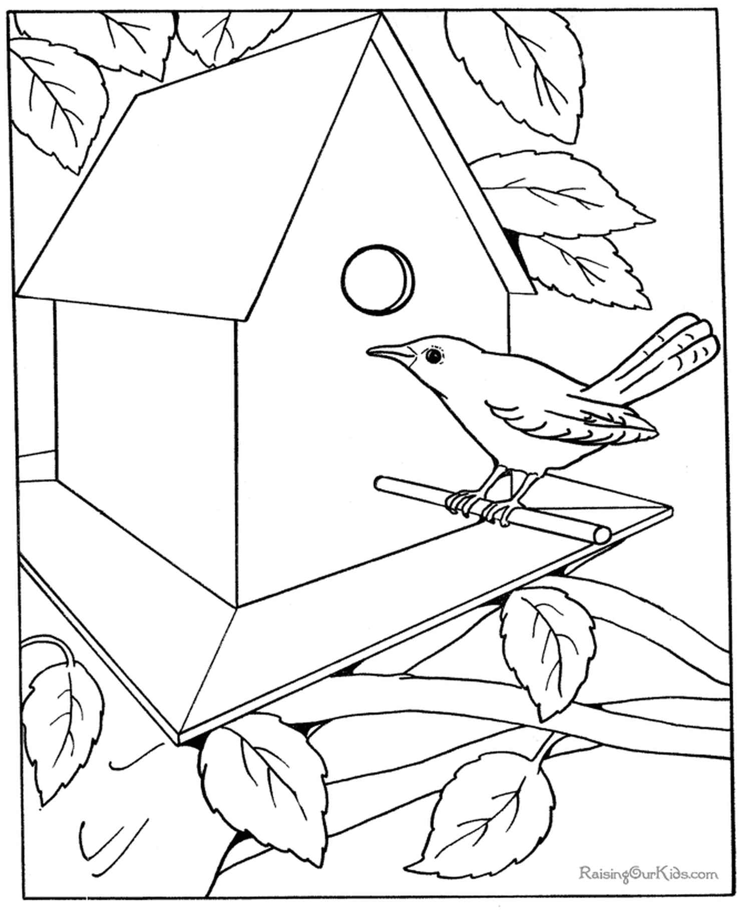 Nesting Box Coloring Page