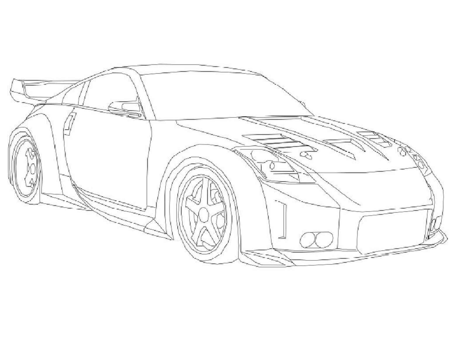 Nissan 350z To Color