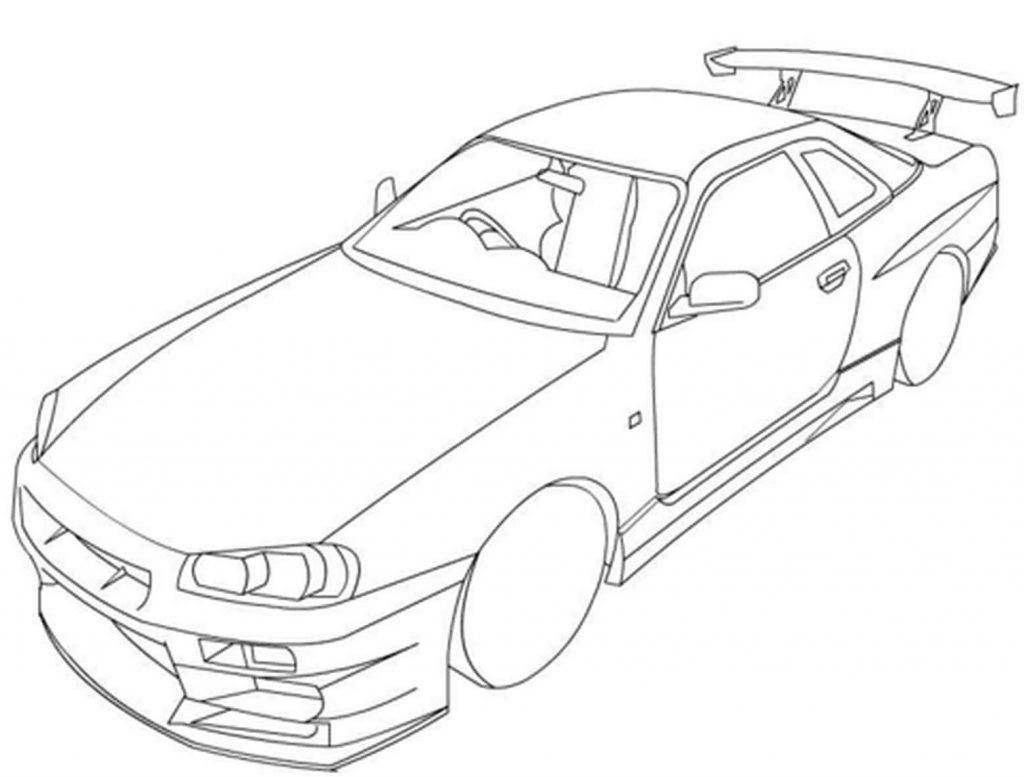 Nissan Skyline R Coloring Page