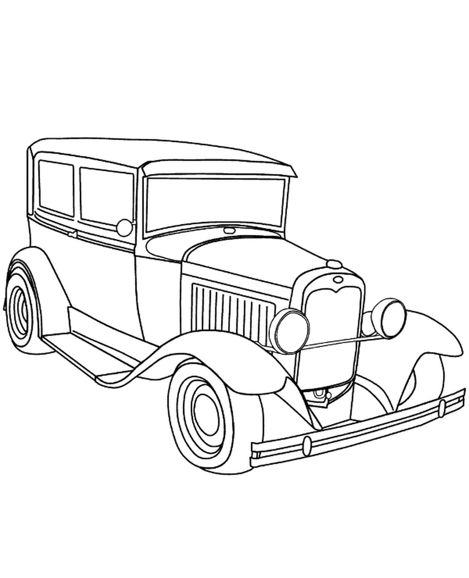 Old, Classic Car Coloring Sheet